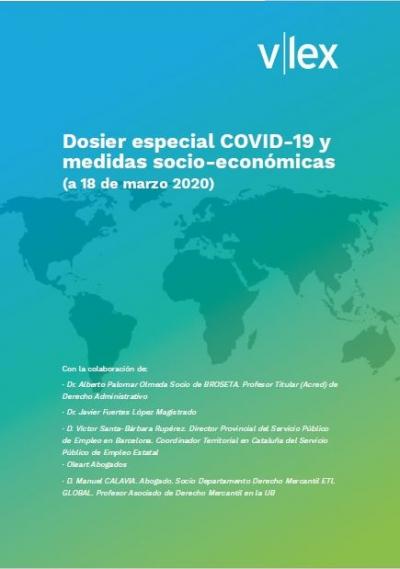 Dosier especial COVID-19 y medidas socio-económicas