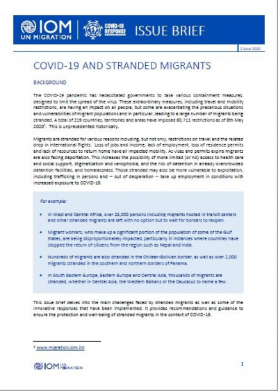 COVID-19 and stranded migrants
